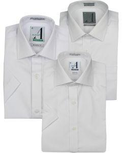 Alviso Boys White Short Sleeve Dress Shirt