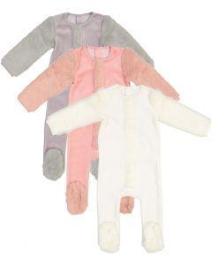 Amourie Unisex Fur Sleeve Velour Stretchie - 475W221