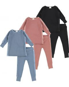Analogie by Lil Legs Unisex Velour Pajamas - Accent