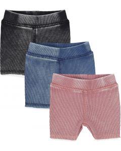 Analogie by Lil Legs Unisex Boys Girls Short Leggings - Denim Wash