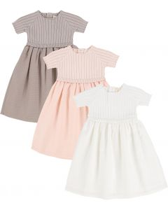 Analogie by Lil Legs Girls Short Sleeve Dress - Ribbed Knit