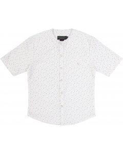 Armando Martillo Boys Short Sleeve Dress Shirt with No Collar - 630-10