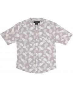 Armando Martillo Boys Short Sleeve Dress Shirt with No Collar - 630-3