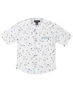 Armando Martillo Boys Short Sleeve Dress Shirt with No Collar - 632-36