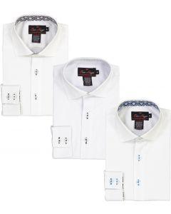 Ben Hugo Boys Long Sleeve Dress Shirt with Contrast - Fall 2020