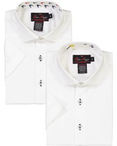 Ben Hugo Boys Short Sleeve Dress Shirt with Contrast - Spring 2020