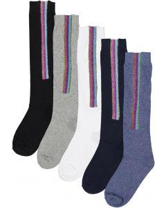 BlinQ Girls Glitter Strip Knee Socks - 303