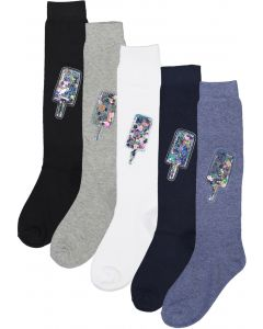 BlinQ Girls Glitter Popsicle Knee Socks - 306