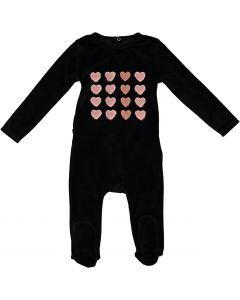 Blinqi Girls Heart Grid Velour Stretchie - 50221