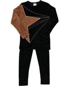 Blinqi Unisex Shooting Star Velour Pajamas - 51024