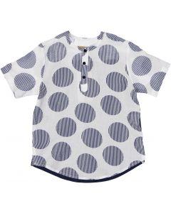 C.T.N Boys Seersucker Short Sleeve Dress Shirt - 9264
