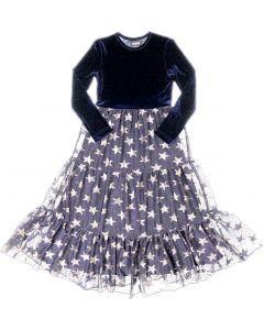 Cindy Couture Girls Velour & Mesh Star Robe - W0J2553R