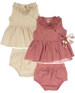 Clo Baby Girls Sparkle Ruffled Edge Outfit - SB0CP4123B