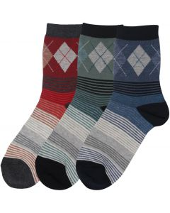 Condor Boys Argyle and Striped Socks - 3766