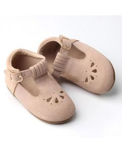 Consciously Infant Boys Girls Suede T-Bar Shoes