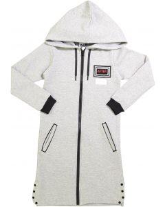 Crew Kids Girls Printed Zipper Hoodie Dress - AL2058