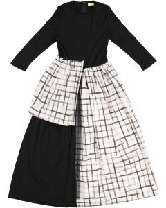 Crystal Arch Girls Checked Panel & Tulle Robe - 9657