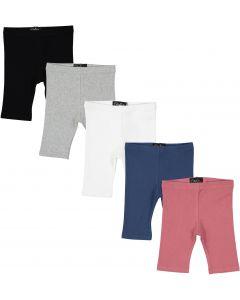 Delore Baby Toddler Boys Girls Unisex Diagonal Ribbed Biker Shorts - DE-1608S