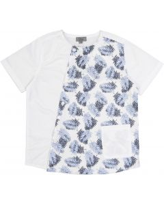 Dimo Boys Short Sleeve Leaf Print Dress Shirt - DH24B