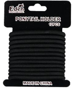 Eden 6mm Ponytail Elastics 12 Pack - PH6MM