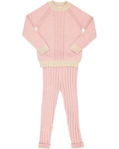 Elle & Boo Baby Girls Cable Knit Outfit - WB1CP4448B