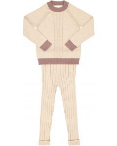 Elle & Boo Baby Boys Cable Knit Outfit - WB1CP4448B