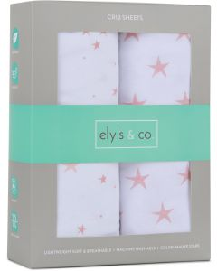 Ely's & Co Stars Crib Sheet 2 Pack