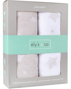Ely's & Co Drawn Star Crib Sheet 2 Pack