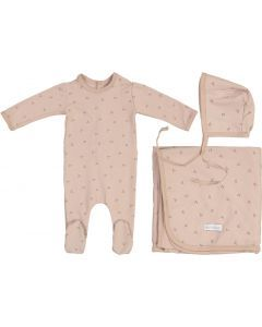 Ely's & Co Girls Cotton Willow Stretchie, Bonnet, Blanket Take Me Home Gift Set - AW21-0026-GB