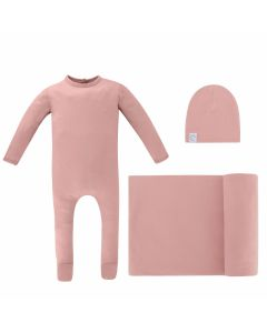 Ely's & Co Girls Cotton Stretchie, Beanie, Blanket Take Me Home Set - ECL-0011-GB