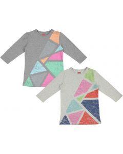Essemmelle Girls 3/4 Sleeve Chalk Print T-shirt - SML21102