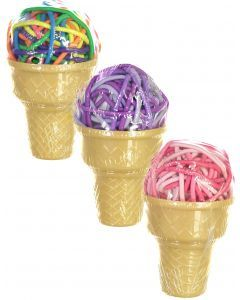 Expressions Ponytail Holder 36 Pack - EXV1031 - Ice Cream Cone
