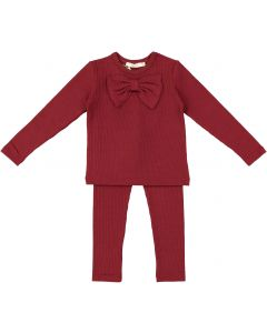Fragile Baby Girls Ribbed Bow Outfit - WB0CP4270P