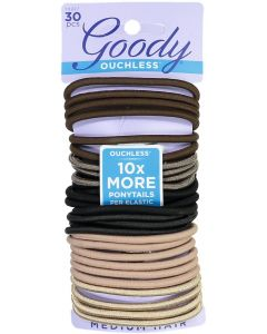 Goody Ouchless Ponytail Elastics 30 Pack - 1941211