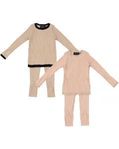 Hopscotch Baby Girls Patterned Wide Ribbed Sweater Outfit - WB0CP4259B