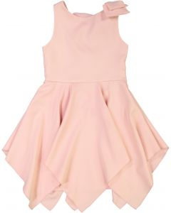 inCity Girls Shoulder Bow Lace Up Back Jumper - 7856