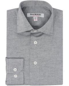 Isaac Mizrahi Boys Gray Chambray Long Sleeve Dress Shirt - SH9380