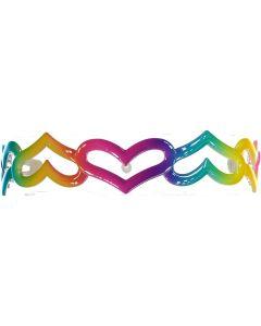 Keshet Girls Rainbow Heart Headband - Heart HB