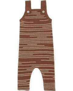 Klai Unisex Staggered Striped Knit Overall - G2035