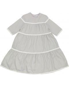 Klai Girls Lace Trimmed Tiered Dress - TD2383