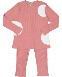 Kokao Girls Ribbed Circle Cotton Pajamas - CS19PG