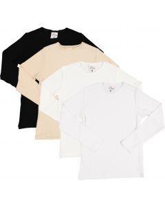LandsKID Boys Girls Unisex Long Sleeve Ribbed Modal T-shirt - LK5