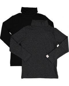 LandsKID Boys Girls Unisex Long Sleeve Ribbed Cotton Turtleneck - LK9