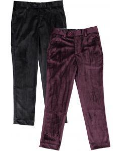 Leo & Zachary Boys Slim Fit Suede Dress Pants - LZ495