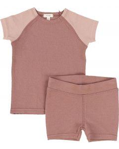 Lil Legs Girls Cotton Pajamas - Raglan Short