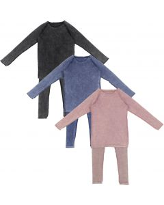 Lil Legs Boys Girls Unisex Ribbed Wash Outfit Set
