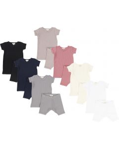 Lil Legs Unisex Baby Short Sleeve Outfit - Ribbed