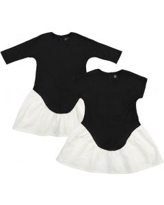 Little Cocoon Girls Knit Combo Dress - TD2191