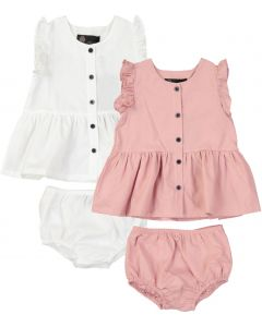 Little Cocoon Baby Girls Button Placket Outfit - TD2194