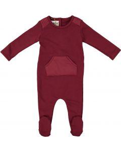 Maniere Baby Girls Puffed Pocket Cotton Stretchie - PPFW20